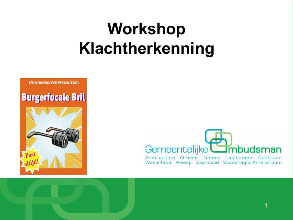 1 Workshop Klachtherkenning
