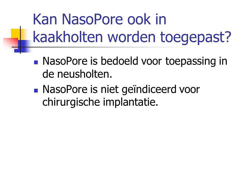 Kan NasoPore ook in kaakholten worden toegepast.