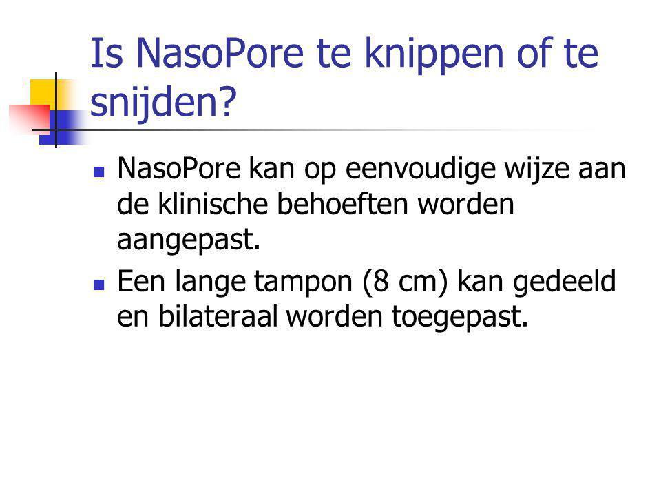 Is NasoPore te knippen of te snijden.