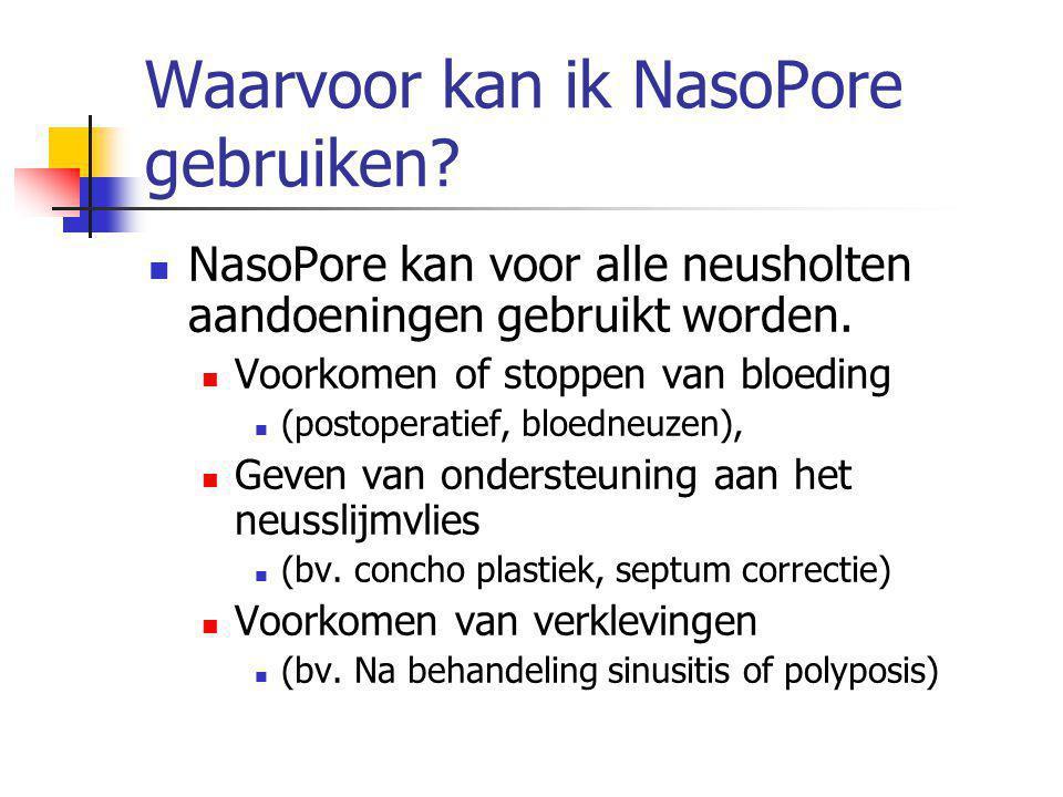 Waarvoor kan ik NasoPore gebruiken.