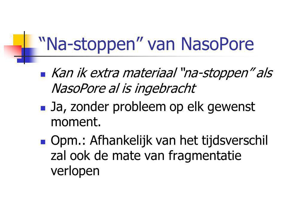 Na-stoppen van NasoPore  Kan ik extra materiaal na-stoppen als NasoPore al is ingebracht  Ja, zonder probleem op elk gewenst moment.