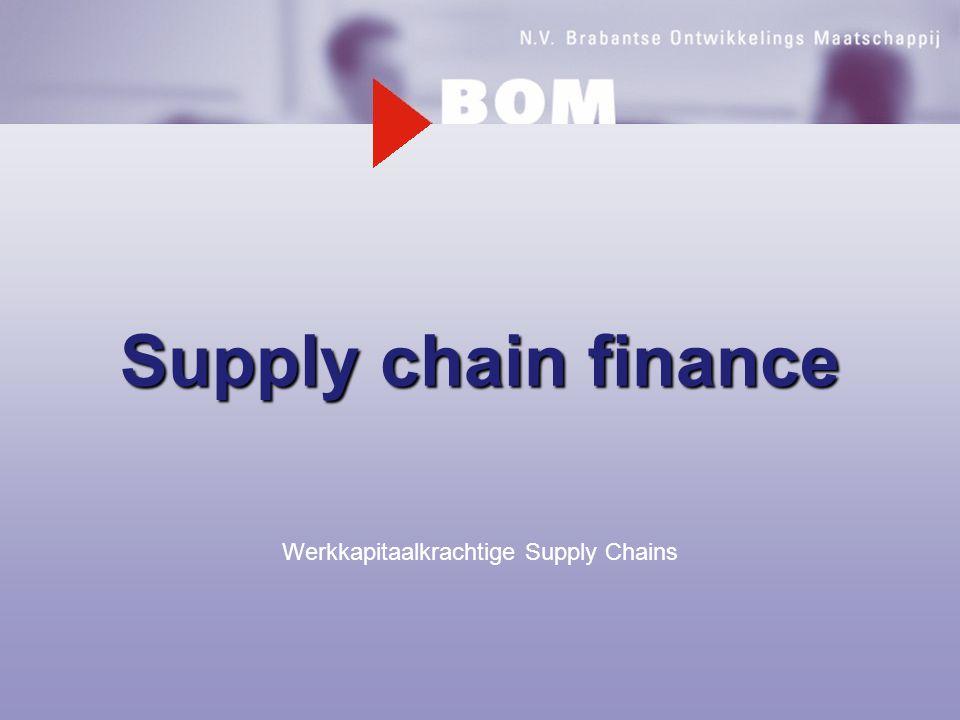 Supply chain finance Werkkapitaalkrachtige Supply Chains