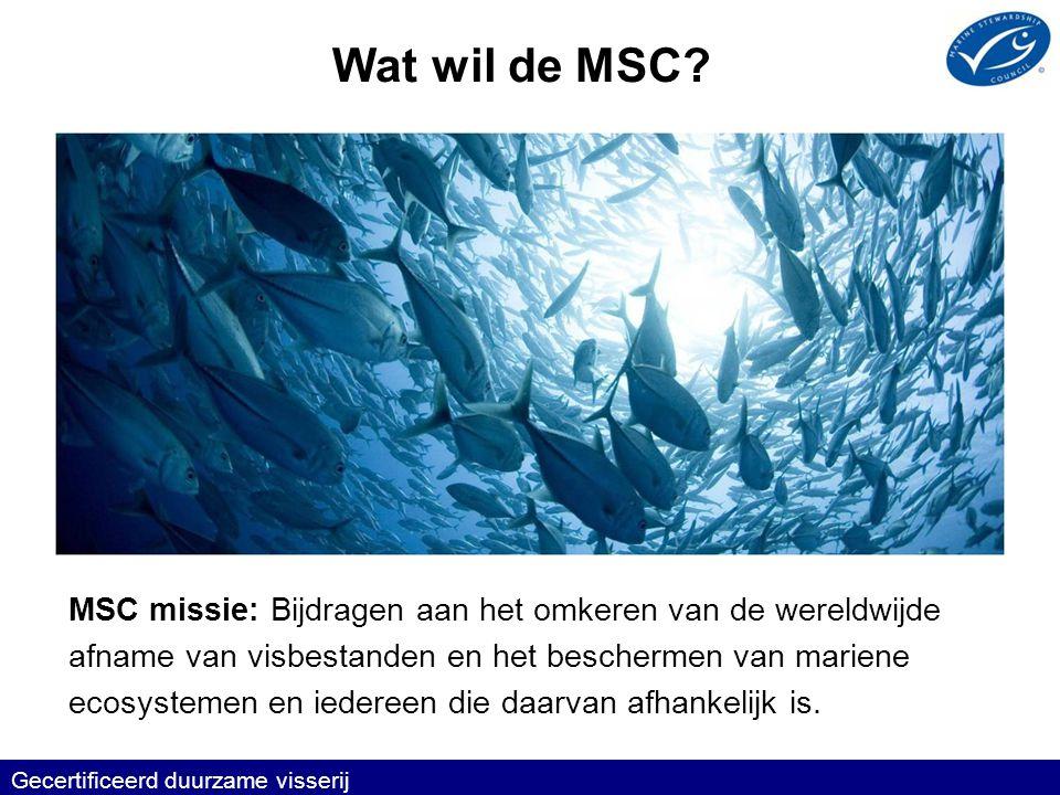 Waarom wil de MSC dat.