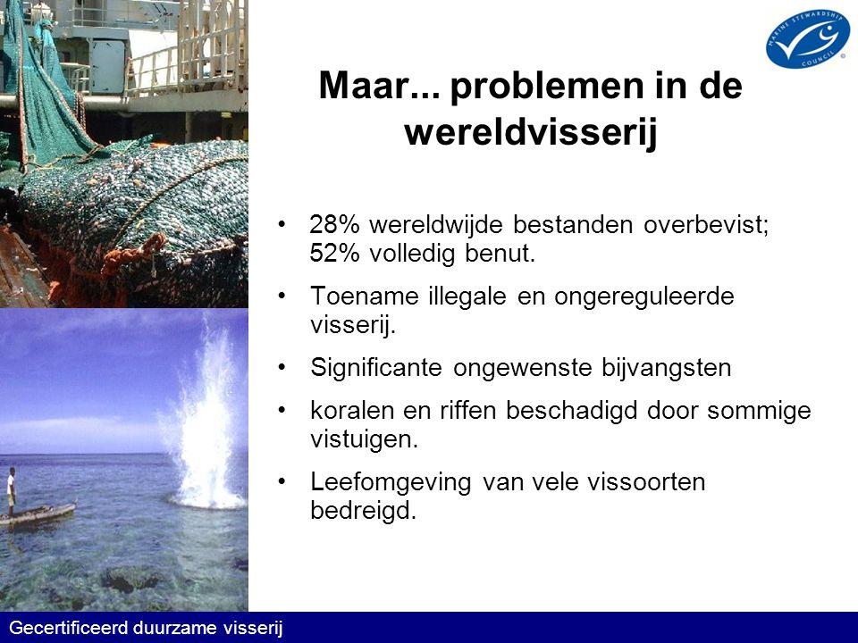 Gecertificeerd duurzame visserij Voorbeeld: Noord-Atlantisch gebied