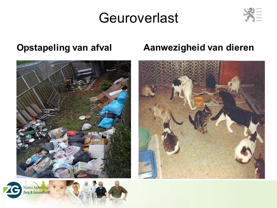 Geuroverlast Opstapeling van afval Aanwezigheid van dieren