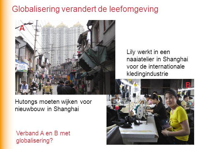 Hutongs moeten wijken voor nieuwbouw in Shanghai Lily werkt in een naaiatelier in Shanghai voor de internationale kledingindustrie Verband A en B met globalisering.