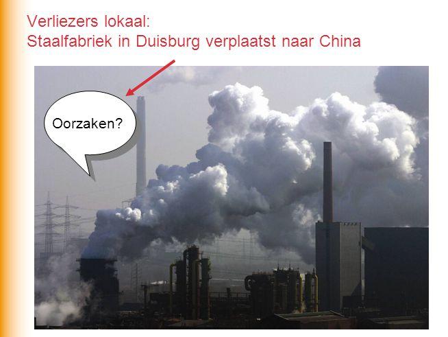 Verliezers lokaal: Staalfabriek in Duisburg verplaatst naar China Oorzaken?
