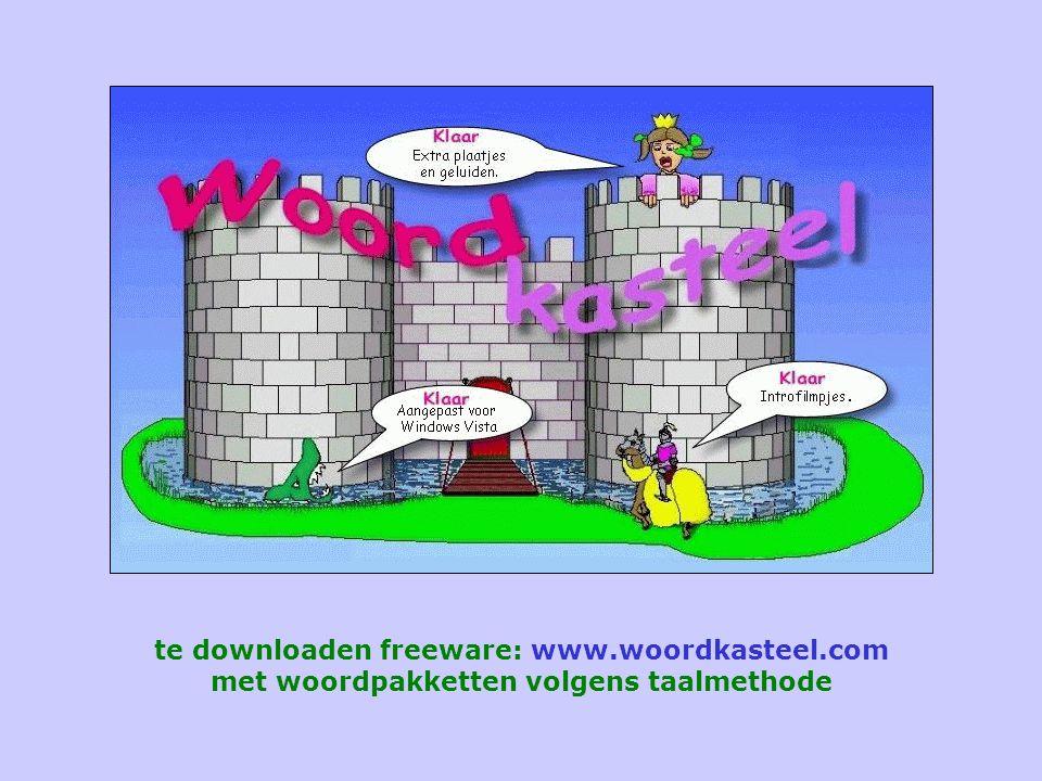 te downloaden freeware: www.woordkasteel.com met woordpakketten volgens taalmethode