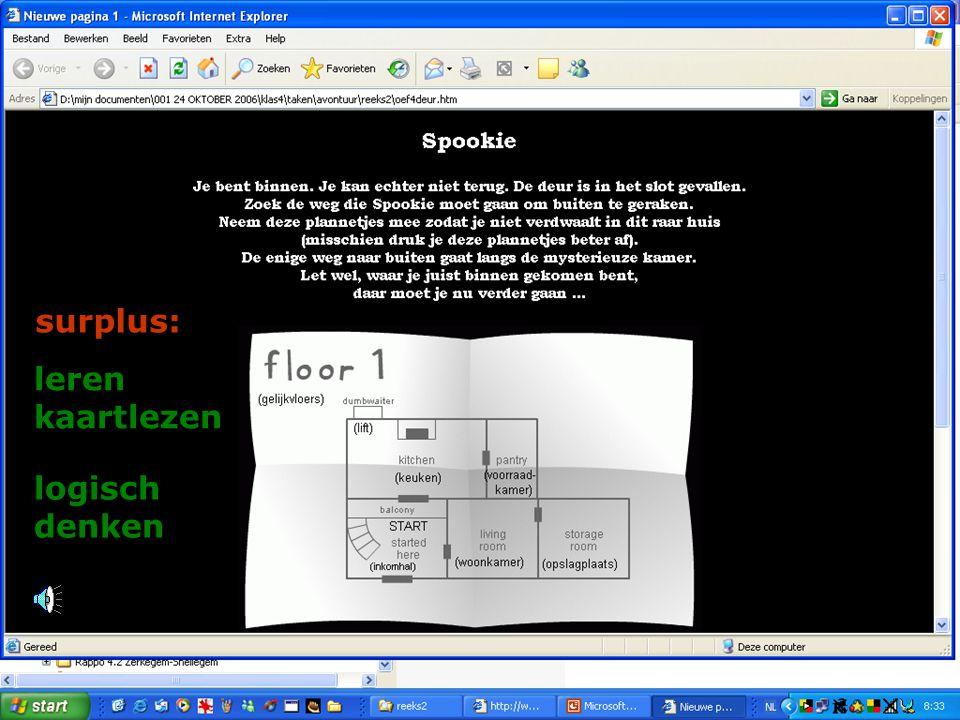 leren kaartlezen logisch denken surplus: