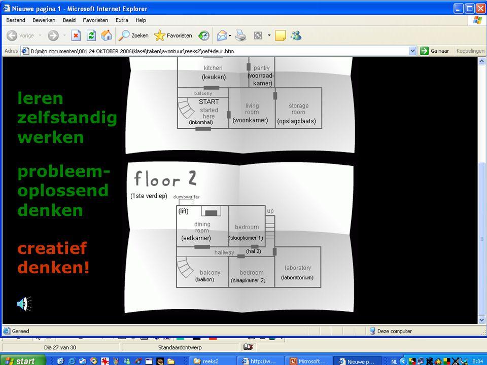 probleem- oplossend denken leren zelfstandig werken creatief denken!