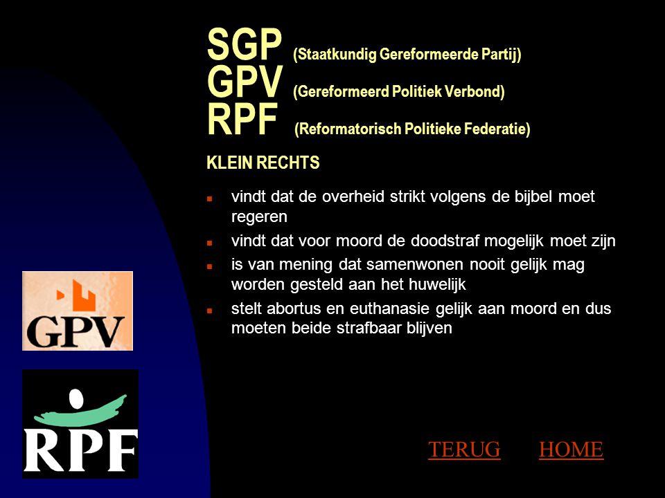 VVD (Volkspartij voor Vrijheid en Demoncratie) n staat rechts van het midden en is een liberale partij n is voor persoonlijke en economische vrijheid
