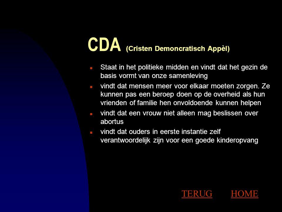 D66 (Democraten '66) n Staat iets links van het midden n is in 1966 opgericht door mensen die vonden dat de Nederlandse politiek was vastgelopen n vin
