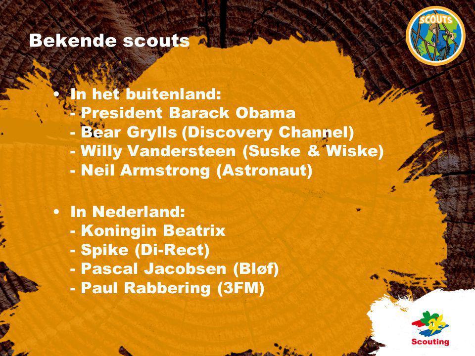 Grootste club van Nederland •Eerste Scoutinggroep in Nederland: 1910 •Eerste meisjesgroep in Nederland: 1928 •100 jaar Scouting in 2010.