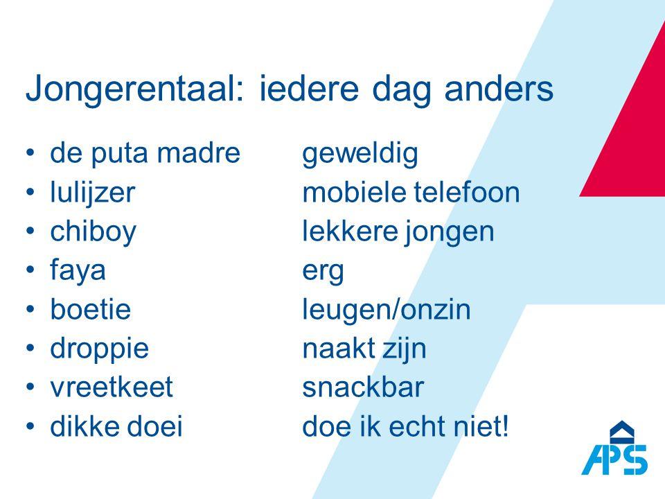 ondersteuning door interactie, reflectie, instructie Taalvariatie en ondersteuning •Straattaal kan helpen bij begrip •Taalverschillen benoemen geeft inzicht in taal •Geef woorden en zinnen die in algemeen Nederlands kunnen •Taalregisters zichtbaar maken •Herschrijven/- presenteren •Trainen, trainen