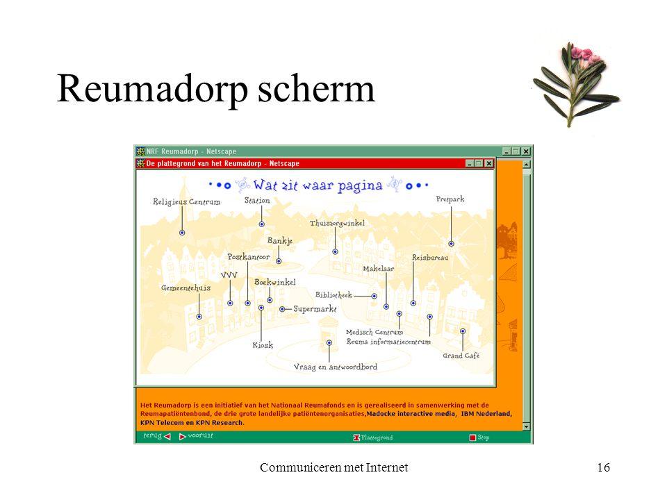 Communiceren met Internet16 Reumadorp scherm