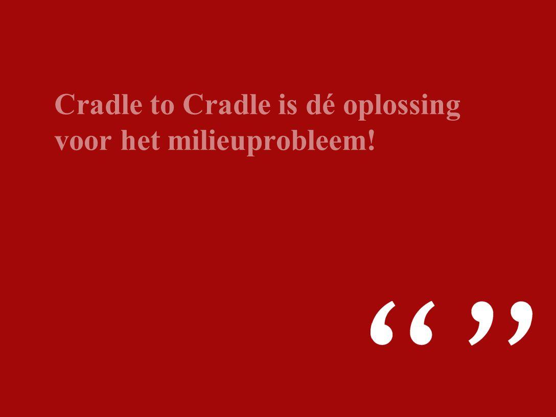 Cradle to Cradle is dé oplossing voor het milieuprobleem!