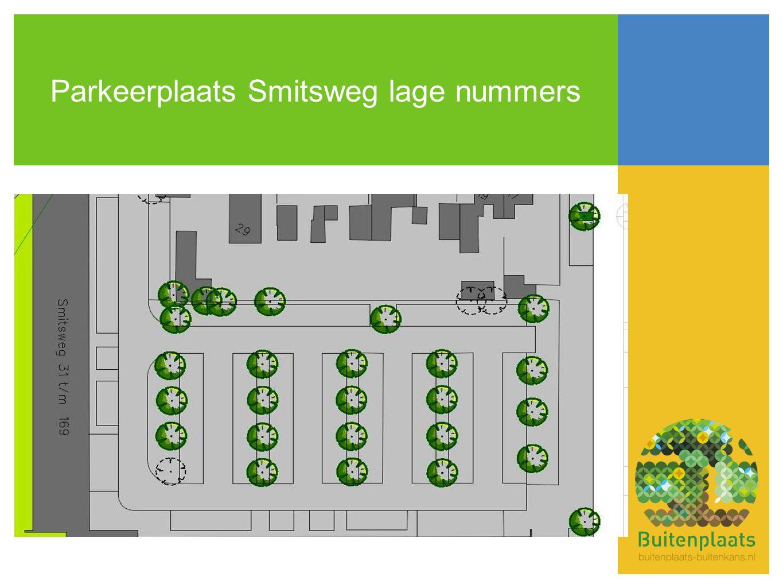 Parkeerplaats Smitsweg lage nummers