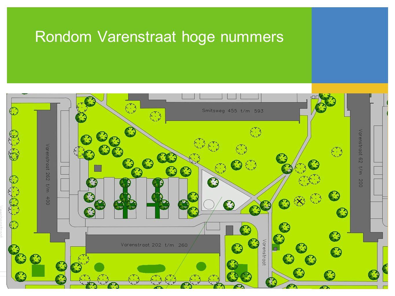 Rondom Varenstraat hoge nummers