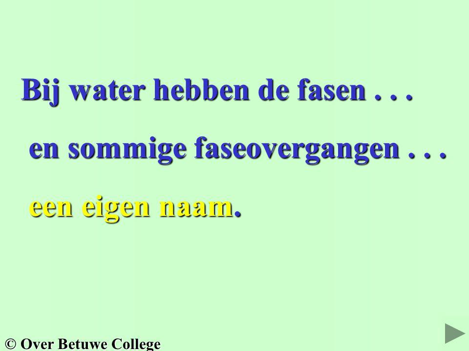 Bij water hebben de fasen...Bij water hebben de fasen...