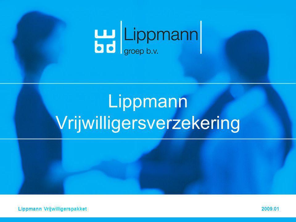 2009.01Vrijwilligerspakket LIPPMANN Vrijwilligerspakket 4 •Bijzondere voorwaarden •Het minimumbelang •De verzekerde kan alleen aanspraak maken op rechtsbijstand als het belang van zijn verzoek ten minste € 225 beloopt.
