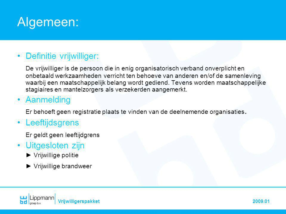 LippmannVrijwilligerspakket2009.01 VRAGEN?