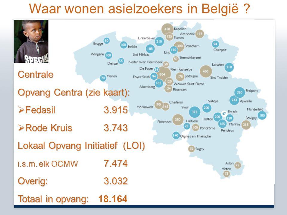 Waar wonen asielzoekers in België .