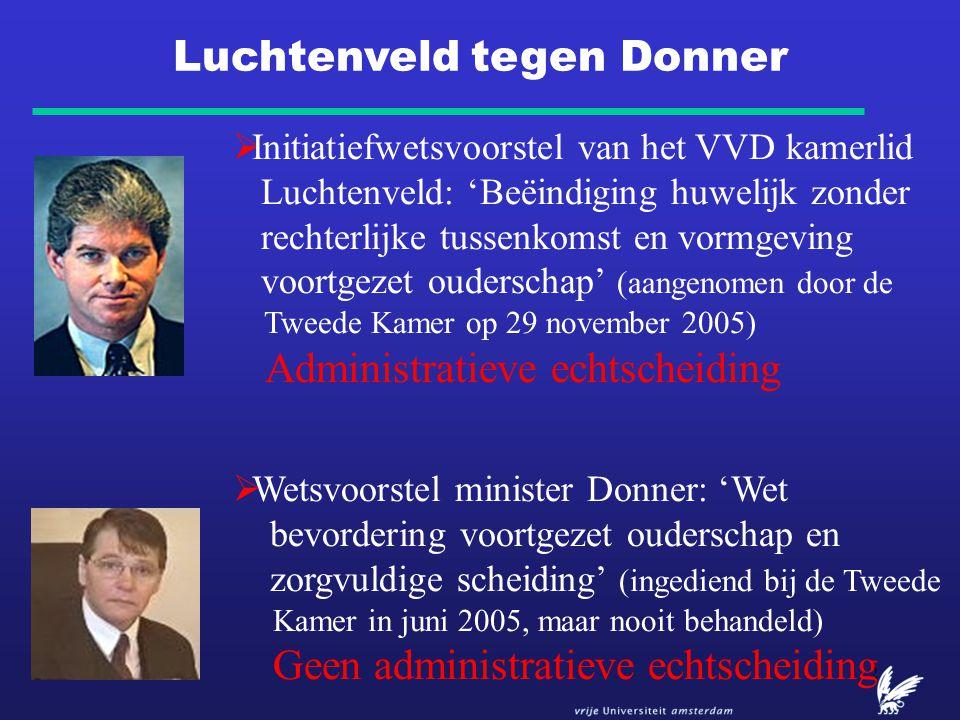 2  Initiatiefwetsvoorstel van het VVD kamerlid Luchtenveld: 'Beëindiging huwelijk zonder rechterlijke tussenkomst en vormgeving voortgezet ouderschap