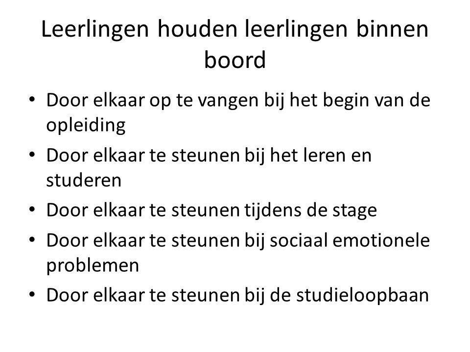 Zijn er successen.• Voorbeeld: Een meisje wilde de opleiding Helpenden Zorg en Welzijn verlaten.