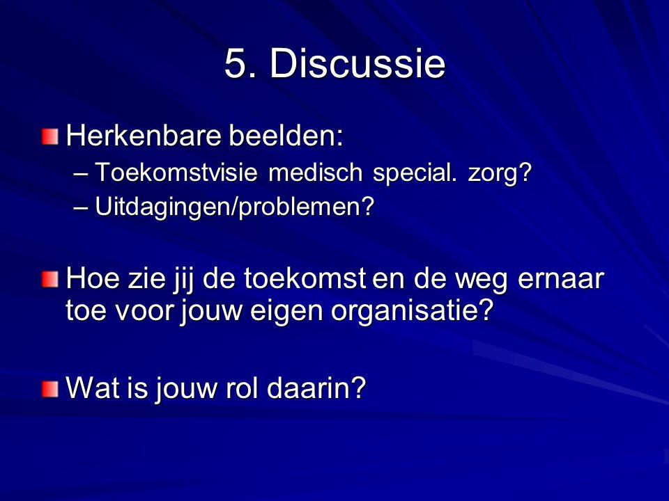 5.Discussie Herkenbare beelden: –Toekomstvisie medisch special.