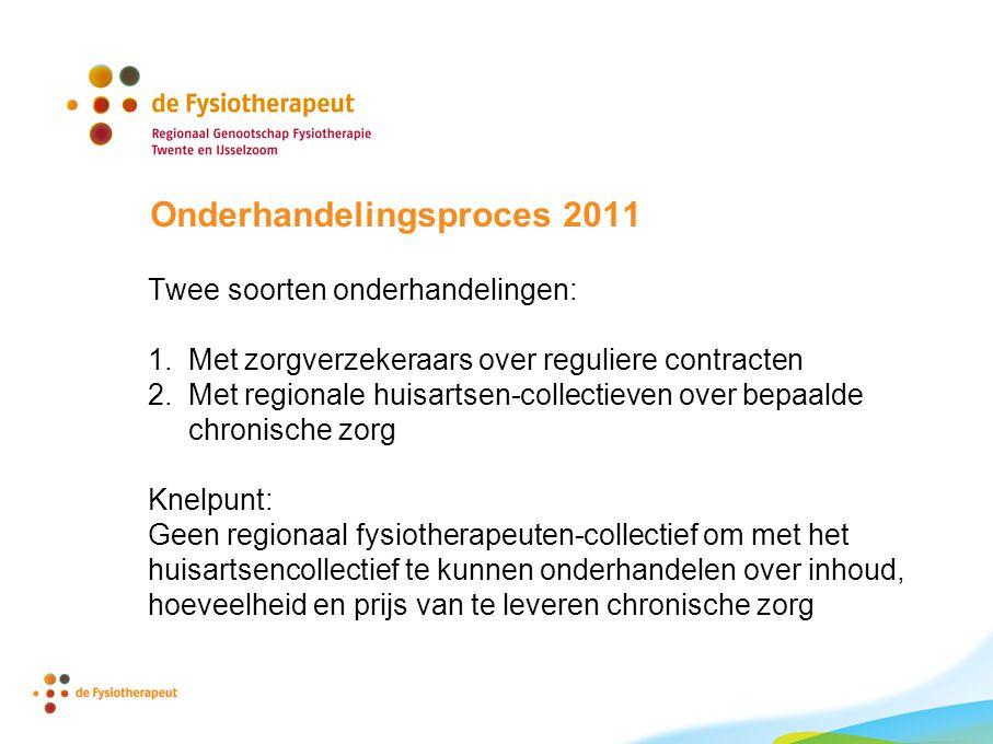 Onderhandelingsproces 2011 Twee soorten onderhandelingen: 1.