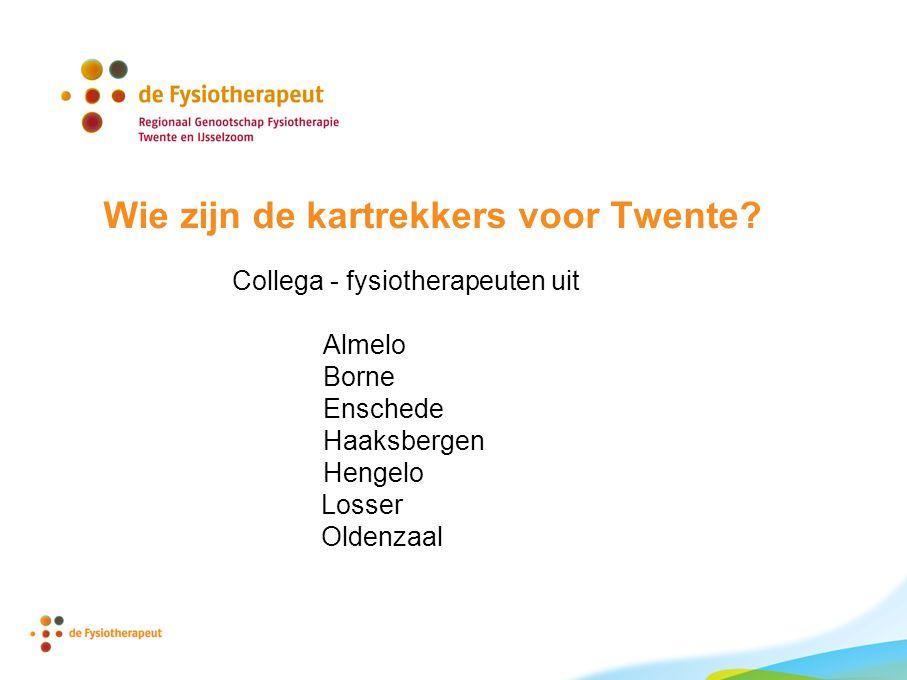 Wie zijn de kartrekkers voor Twente.