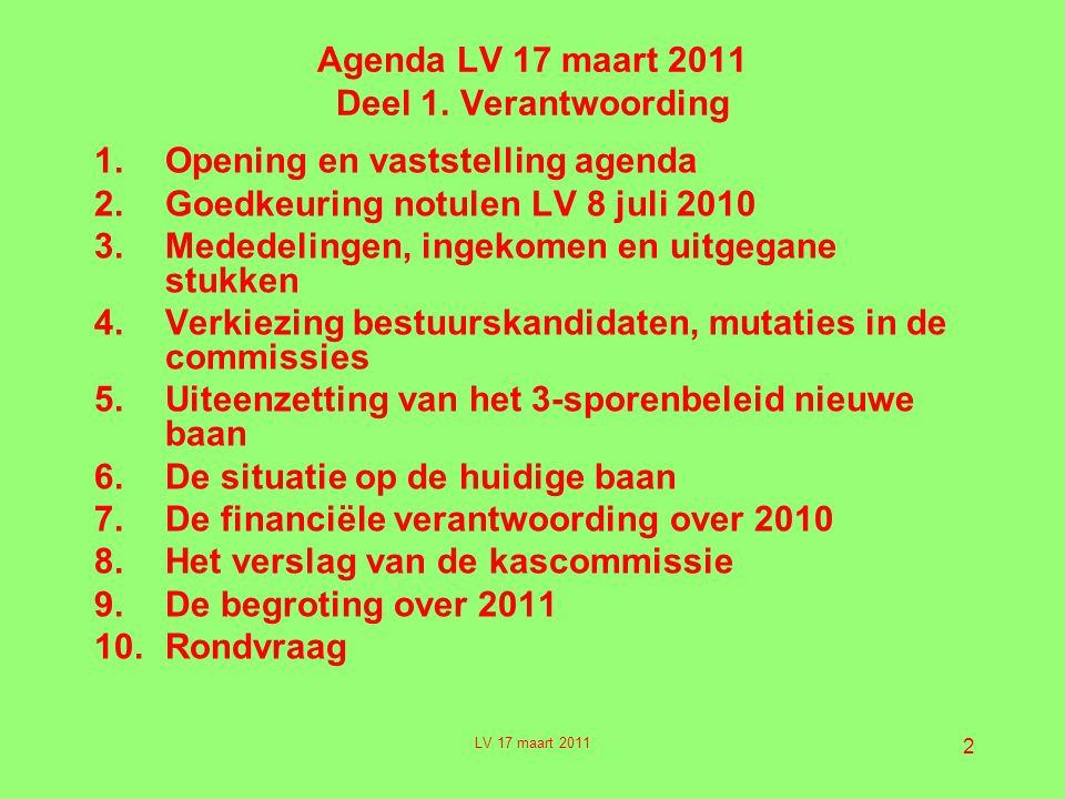 2 Agenda LV 17 maart 2011 Deel 1.