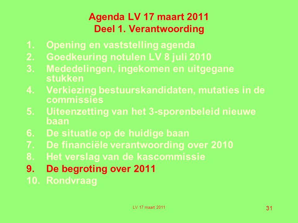 31 Agenda LV 17 maart 2011 Deel 1.