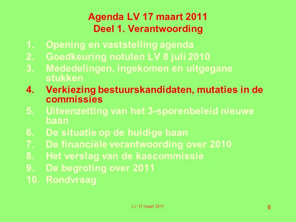 6 Agenda LV 17 maart 2011 Deel 1.