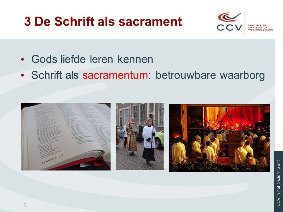 CCV in het bisdom Gent 10 • Gods liefde laat zich ervaren • Eerst het sacrament, dan de uitleg • In de paasnacht 4 Gedoopt in Jezus' Geest delend in zijn lichaam en bloed