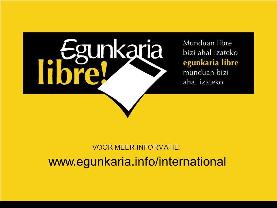 VOOR MEER INFORMATIE: www.egunkaria.info/international