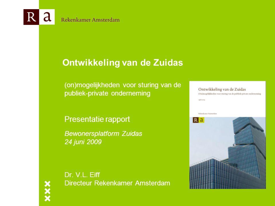 Ontwikkeling van de Zuidas (on)mogelijkheden voor sturing van de publiek-private onderneming Presentatie rapport Bewonersplatform Zuidas 24 juni 2009