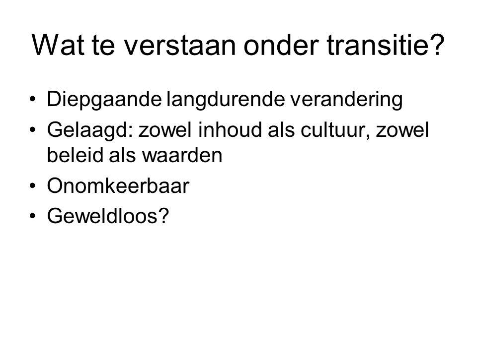 Grappige betekenis van deze transitie •Nederlandse Antillen hebben de moed om een bestuurslaag weg te snijden, terwijl het gesprek over afschaffing van de provincies in NL al decennia stokt