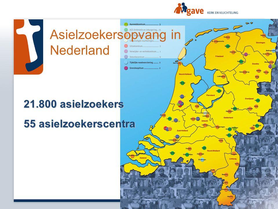 21.800 asielzoekers 55 asielzoekerscentra Asielzoekersopvang in Nederland