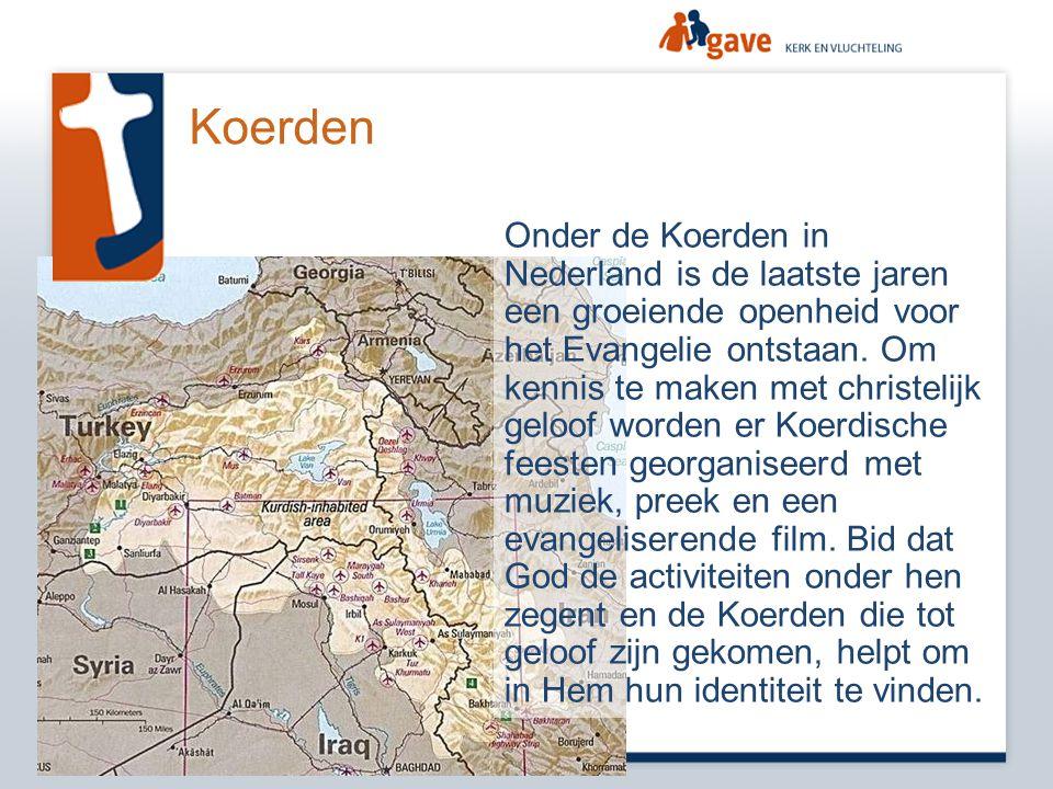 Koerden Onder de Koerden in Nederland is de laatste jaren een groeiende openheid voor het Evangelie ontstaan. Om kennis te maken met christelijk geloo