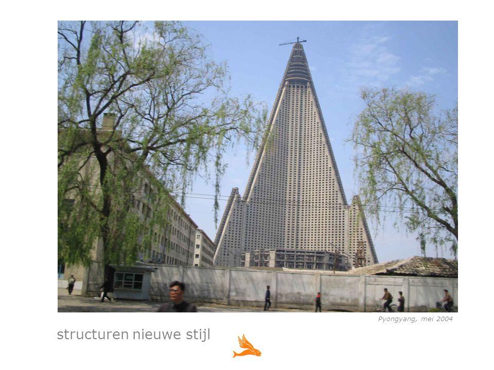 Pyongyang, mei 2004 structuren nieuwe stijl