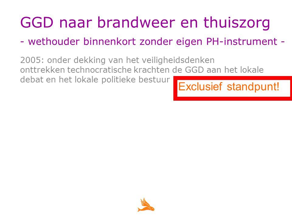 Praktijk op de Zuid-Hollandse Eilanden landelijk beleid > eis congruentie: opsplitsen GGD in 2-en > eis schaalgrootte: overname restanten door GGD Rotterdam en GGD Zuid Holland Zuid