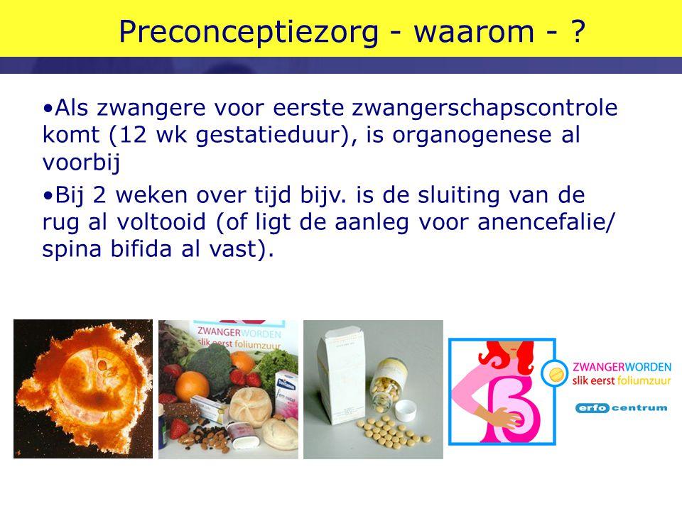 Preconceptiezorg - waarom - .