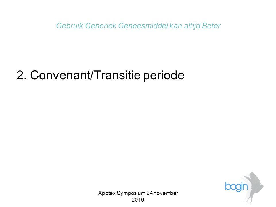 Apotex Symposium 24 november 2010 Gebruik Generiek Geneesmiddel kan altijd Beter 2.