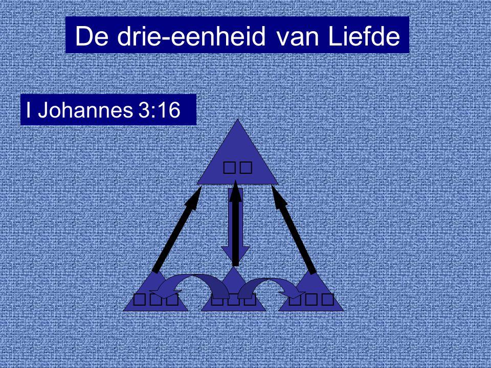 De drie-eenheid van Liefde I Johannes 3:16