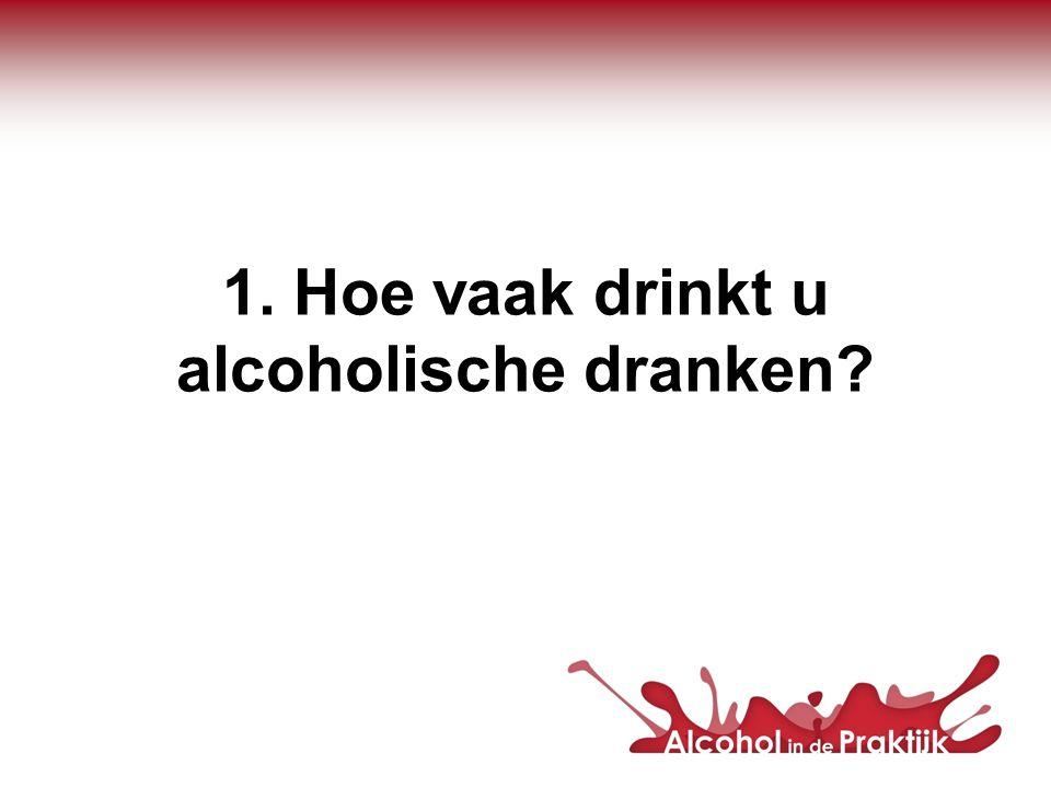 1. Hoe vaak drinkt u alcoholische dranken?