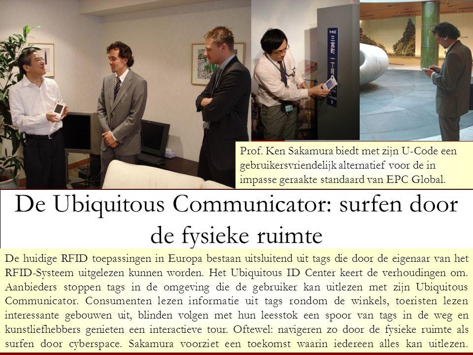 De Ubiquitous Communicator: surfen door de fysieke ruimte De huidige RFID toepassingen in Europa bestaan uitsluitend uit tags die door de eigenaar van