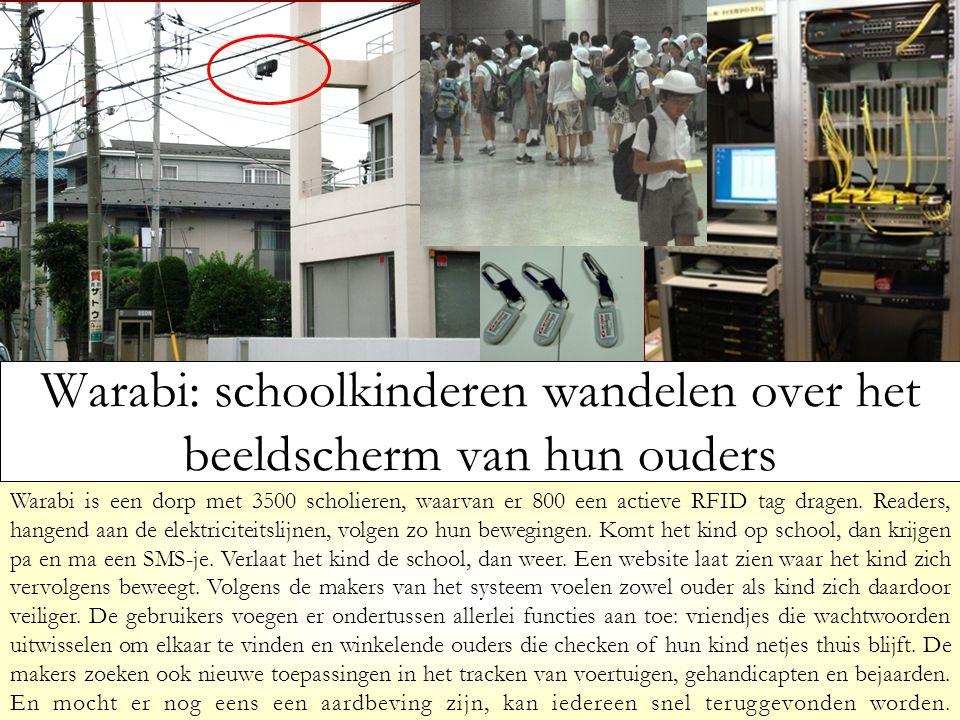 Warabi is een dorp met 3500 scholieren, waarvan er 800 een actieve RFID tag dragen.