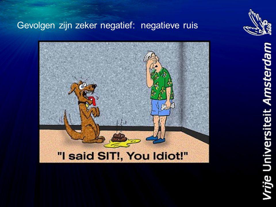 Gevolgen zijn zeker negatief: negatieve ruis