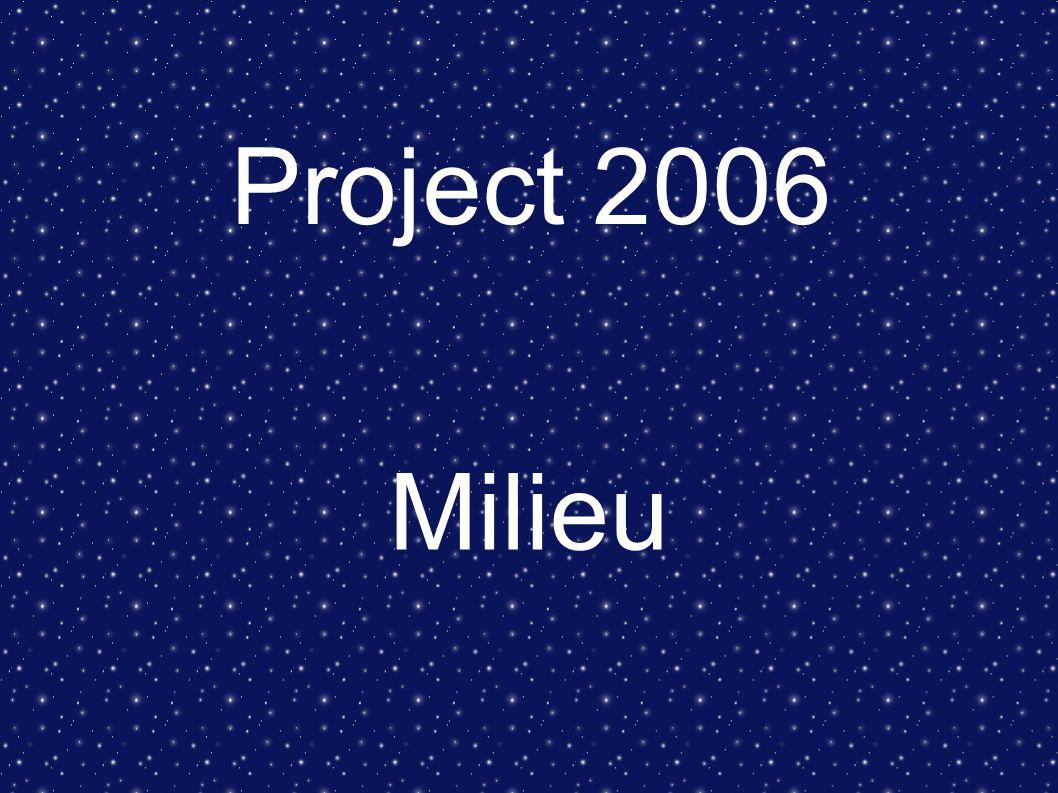 Project 2006 Milieu